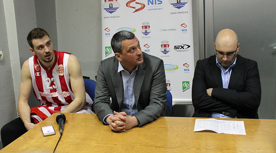 Radonjić i Jovičić na konferenciji za štampu posle meča u Pančevu