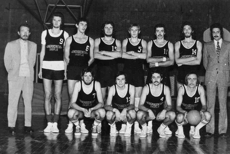KK Dinamo 1973. godine sa novim trenerom
