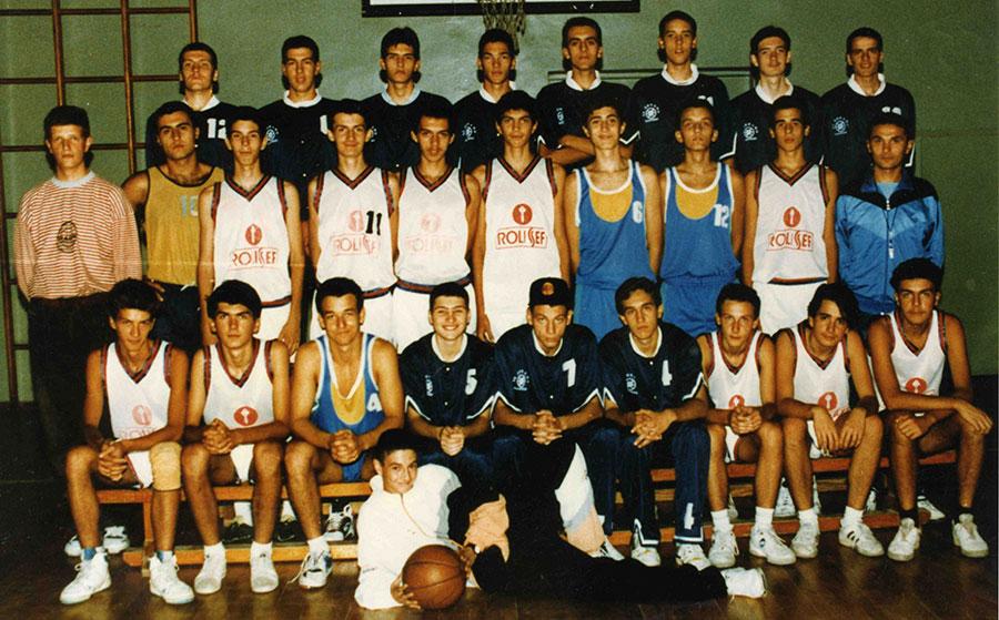 KK Dinamo Pančevo sa Gašom 1994. godine