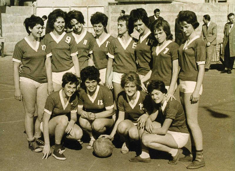 Ženska ekipa KK Dinamo Pančevo 1963. godina