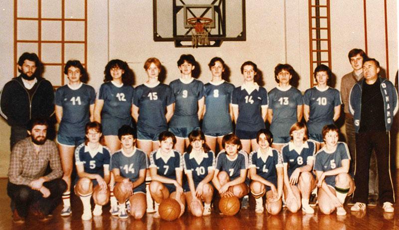 Ženska ekipa sa Tošom Lazićem 1981. godine